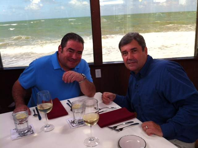 Emeril Lagasse and Charley Replogle at Ocean Grill