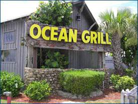 Ocean Grill Exterior with sign